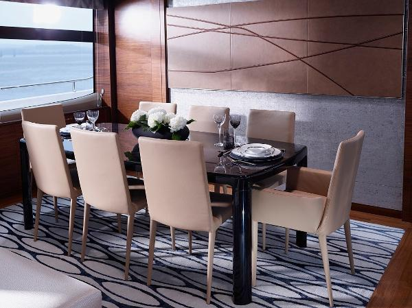 Princess Flybridge 88 Motor Yacht Dining Area