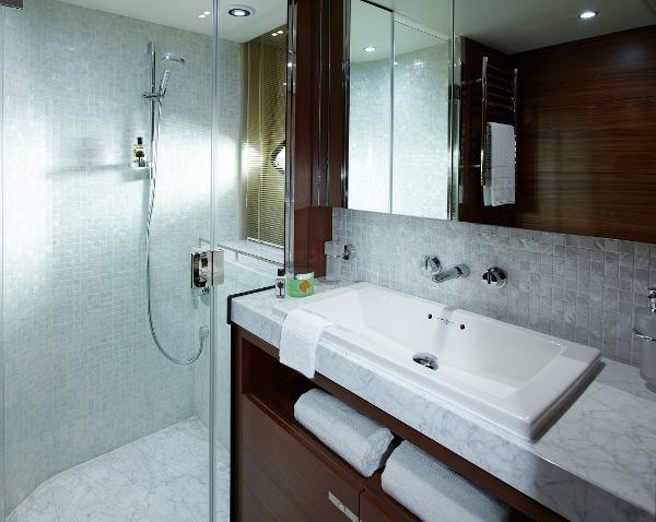 Princess Flybridge 88 Motor Yacht Port Bathroom