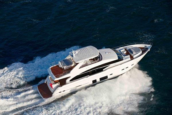 Princess Flybridge 88 Motor Yacht Aerial View