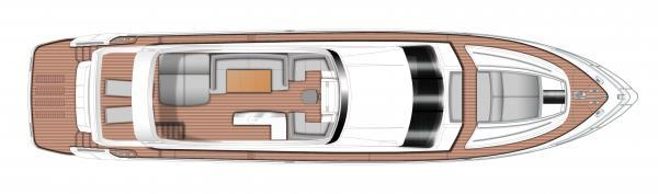 Princess Flybridge 82 Motor Yacht Flybridge Layout Plan