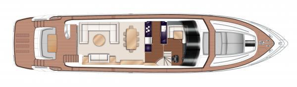 Princess Flybridge 82 Motor Yacht Upper Deck Layout Plan