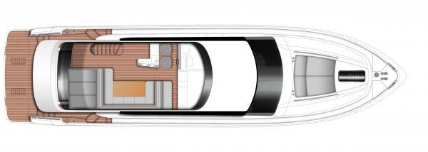 Princess Flybridge 64 Motor Yacht Flybridge Layout Plan