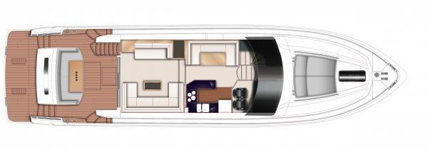 Princess Flybridge 64 Motor Yacht Upper Deck Layout Plan