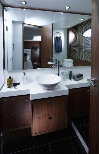 Princess Flybridge 64 Motor Yacht Owner's Bathroom