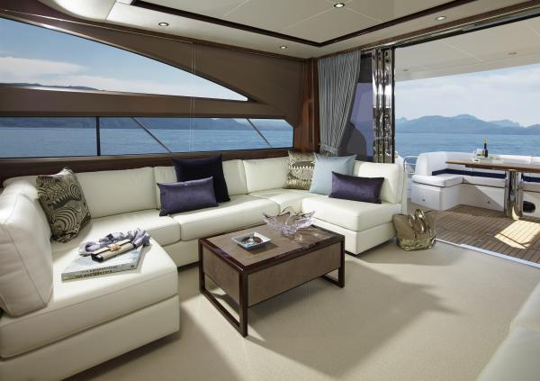 Princess Flybridge 64 Motor Yacht Saloon