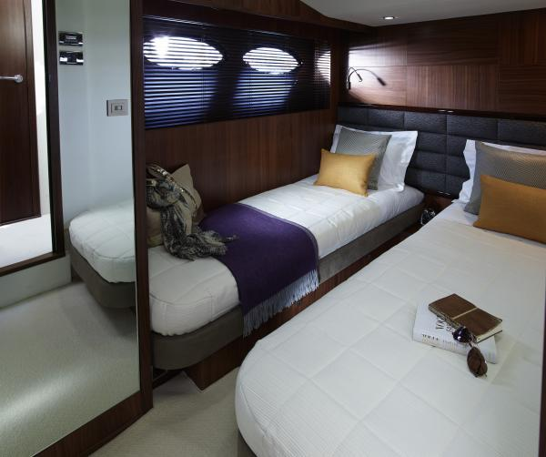 Princess Flybridge 64 Motor Yacht Starboard Twin Cabin