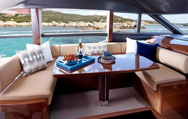 Princess Flybridge 60 Motor Yacht Dining Area