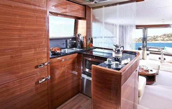 Princess Flybridge 60 Motor Yacht Galley