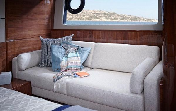 Princess Flybridge 60 Motor Yacht Sofa