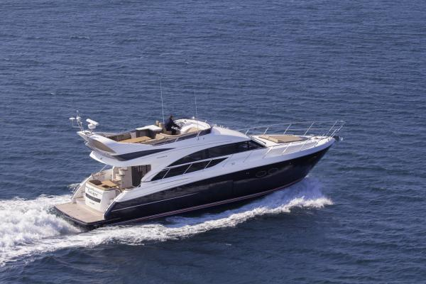 Princess Flybridge 56 Motor Yacht Running Shot
