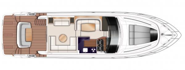 Princess Flybridge 56 Motor Yacht Upper Deck Layout Plan