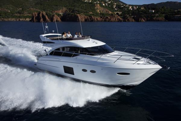 Princess Flybridge 52 Motor Yacht Running Shot