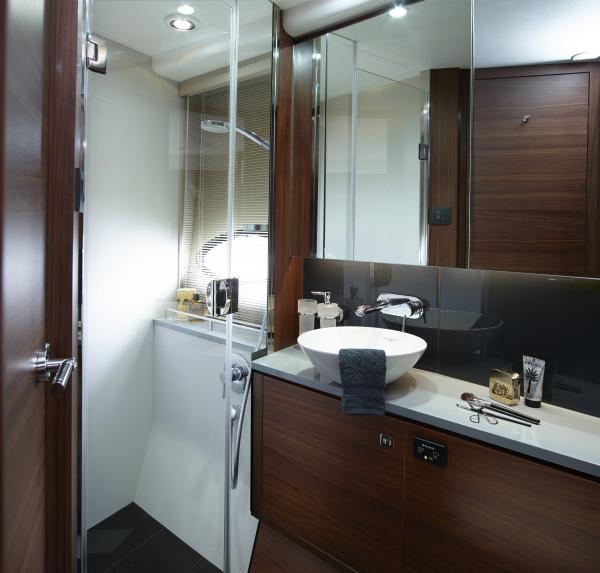 Princess Flybridge 52 Motor Yacht Forward Guest Bathroom