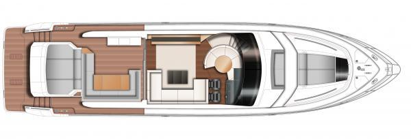 Princess V72 Upper Deck Layout Plan