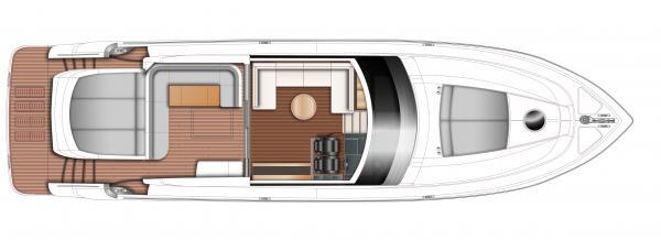 Princess V62-S Upper Deck Layout Plan