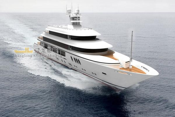 60m yacht front view