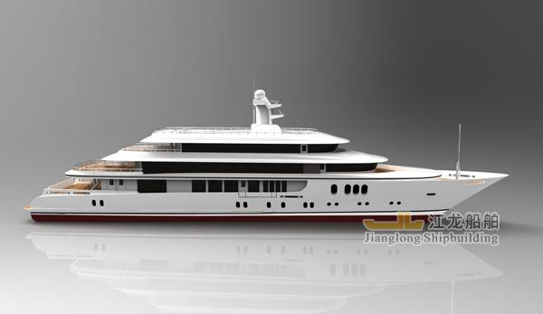 60m yacht side view