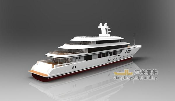 60m yacht back view