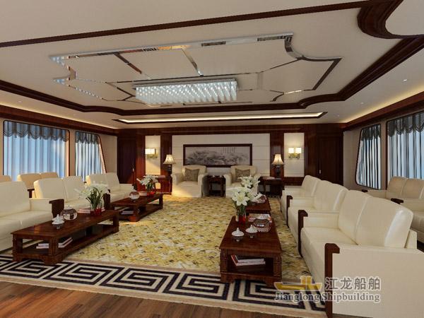 60m yacht saloon