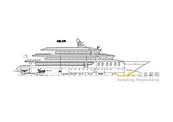 60m yacht drawing 1