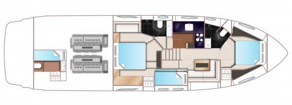 Princess V57 Lower Deck Optional Layout Plan