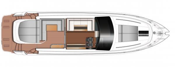 Princess V57 Upper Deck Layout Plan