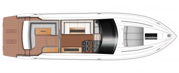 Princess V52 Upper Deck Layout Plan