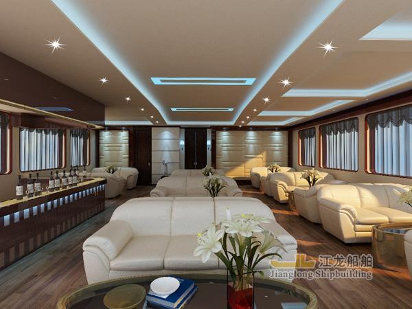 35m yacht saloon