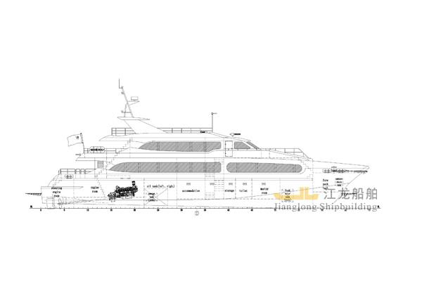 35m yacht drawing 1