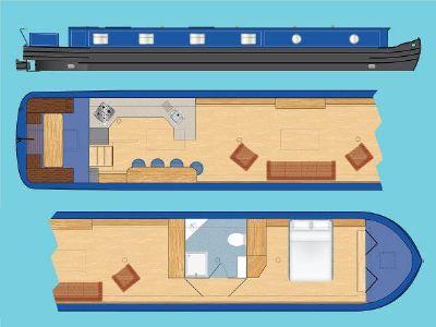 """Wide Beam Narrowboat Tingdene Colecraft 66 x10'04"""""""