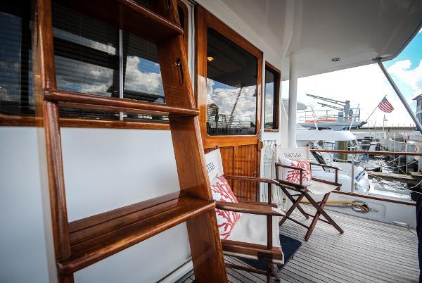 Lien Hwa Marine Trader 50 Stabilized Trawler Aft Deck