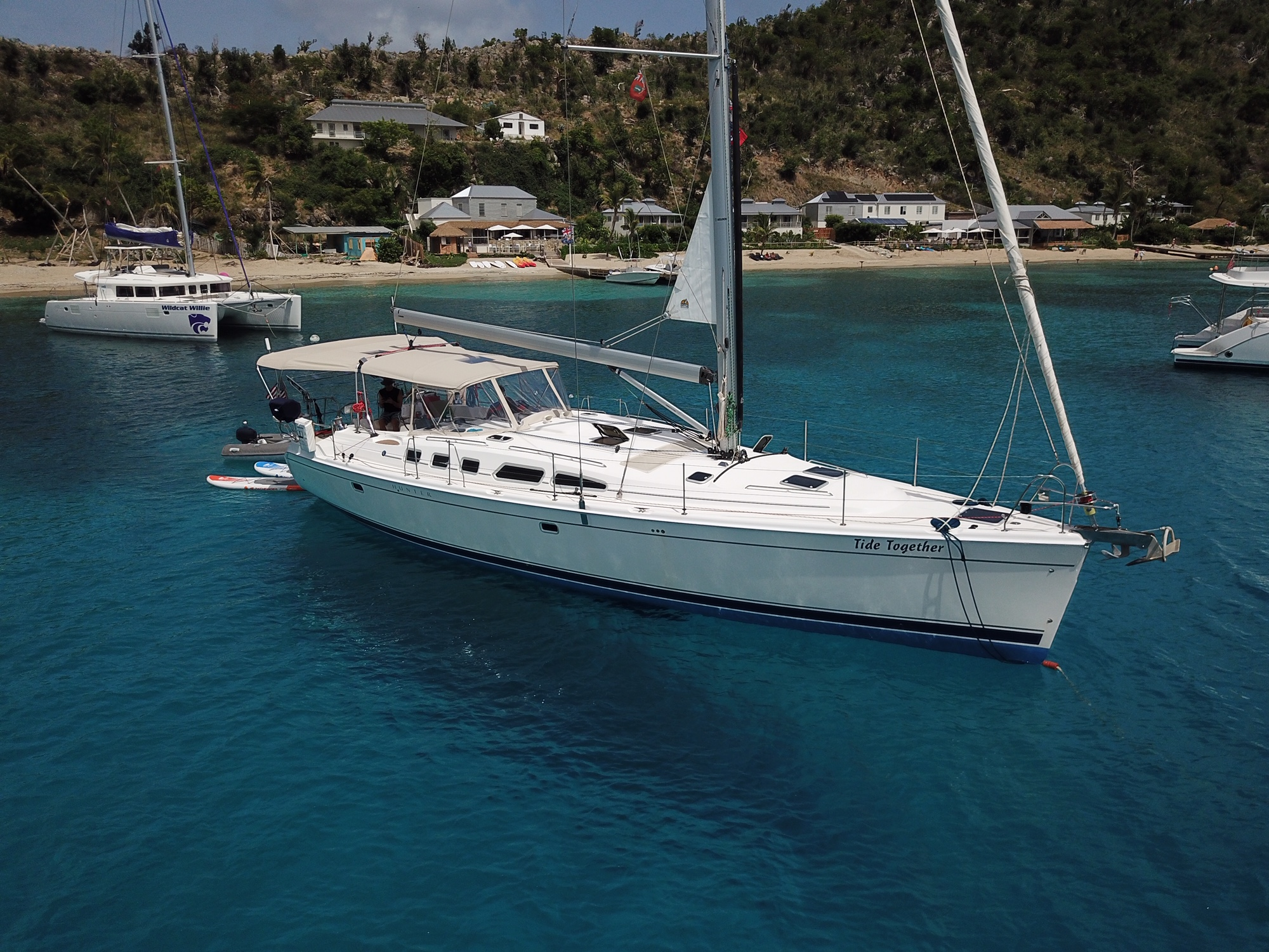 Hunter 49 Right where You want to be, Anchored at Cooper!