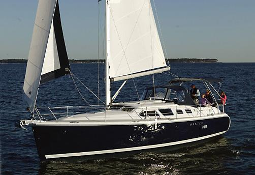Hunter 41 Deck Salon Manufacturer Provided Image