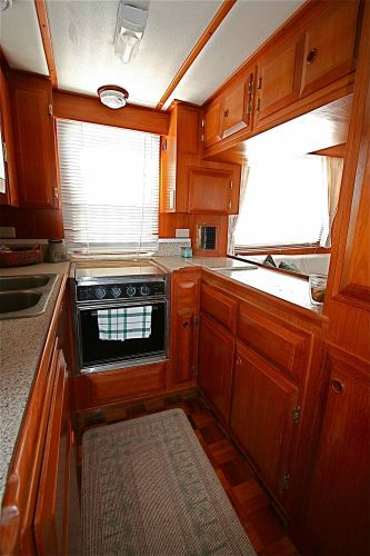 Galley with updated granite counters