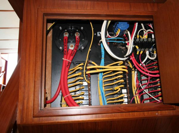 Easy access to back of master electrical panel