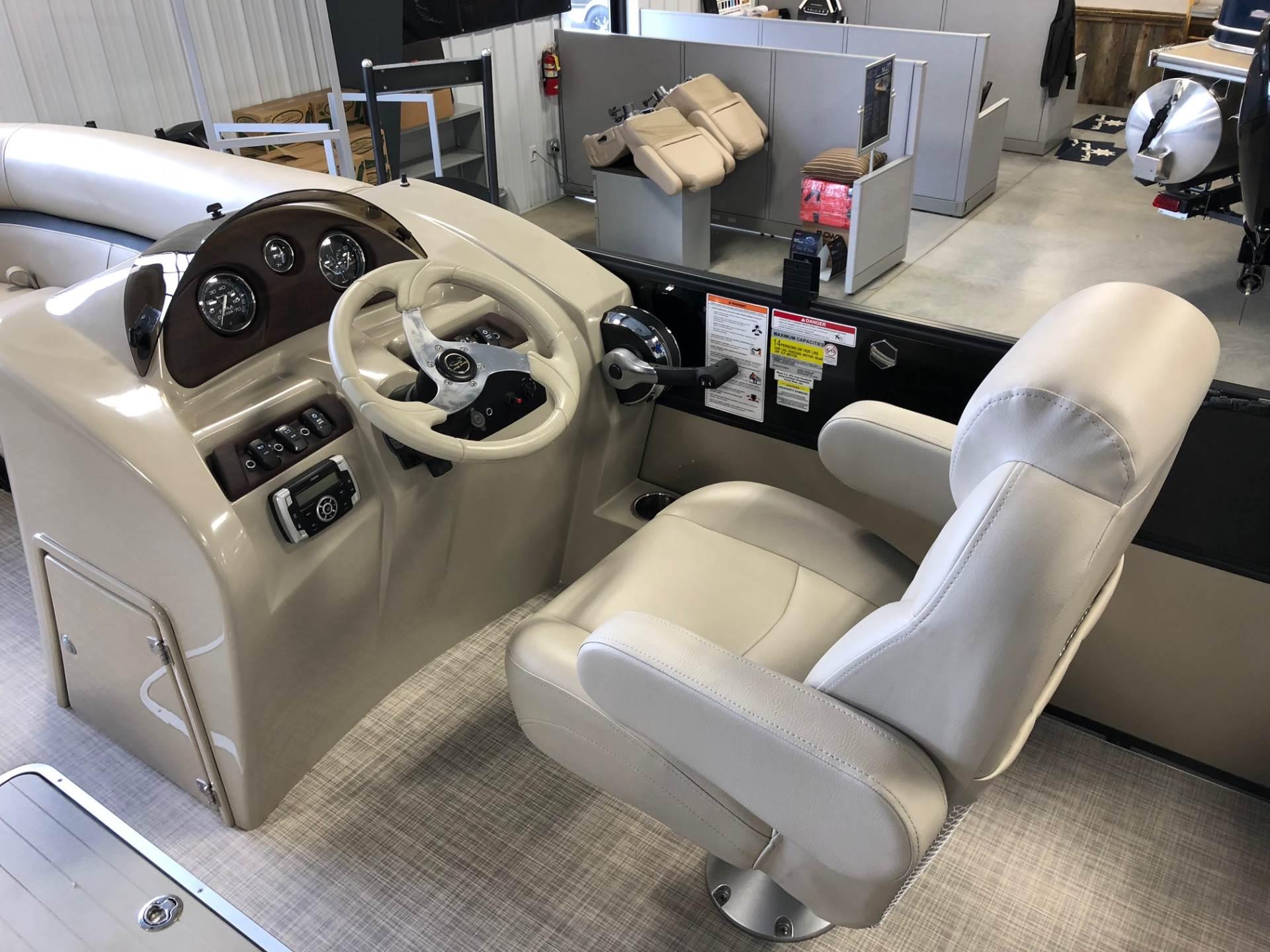 2018 24 Foot South Bay Pontoon Boat For Sale at Captain's Marine in Kalispell Montana 150 HP Mercury Motor