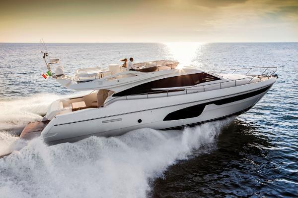 Ferretti Yachts 650 Manufacturer Provided Image: Ferretti 650 Side Profile