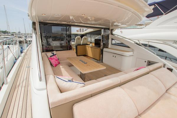 Princess V62 Aft Cockpit
