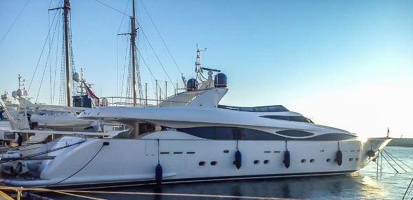 Maiora 38 Actual boat showing starboard side