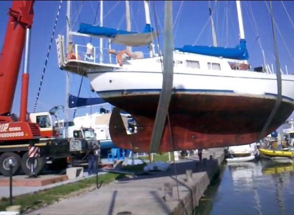 J. Boer Sliedrecht Netherland Dutch Steel Ketch canoe stern