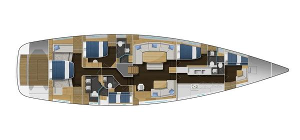 Gunfleet 74 Interior Layout Plan