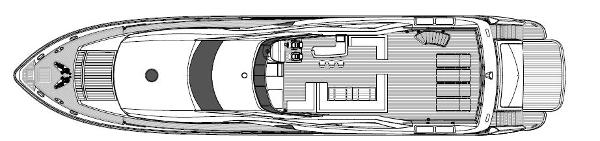 Sunseeker 34M Yacht Flybridge Layout Plan