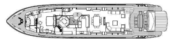 Sunseeker 34M Yacht Main Deck Layout Plan