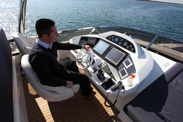 Sunseeker 80 Yacht Flybridge Helm