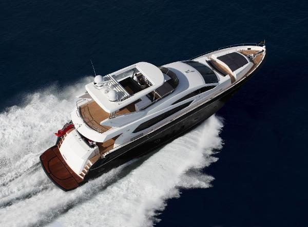Sunseeker 80 Yacht Aerial View