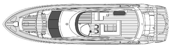 Sunseeker 80 Yacht Flybridge Layout Plan