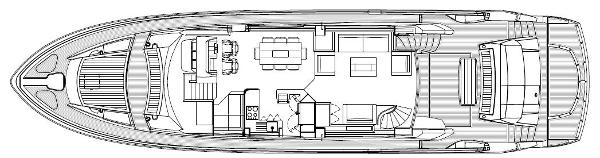 Sunseeker 80 Yacht Main Deck Layout Plan