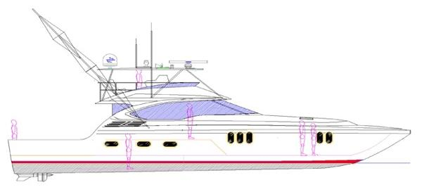 Newport Offshore Convertible Profile