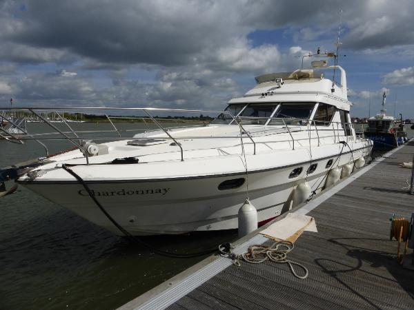 Princess 45 Flybridge Port side to on home berth
