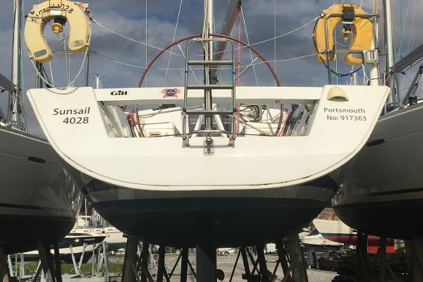 Beneteau First 40 Transom View (Ashore)